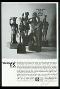 1962 Cigar Store Wooden Indian 5 Photo Aetna Insurance Vintage Print Ad