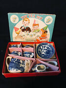 Vintage Japan Blue Willow Real China Minature Toy Tea Set 11pc Childrens