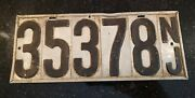1906 1907 New Jersey License Plate Pre-state Nj Auto Tag Vehicle Registration