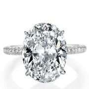 Italo Jewelry Oval Created White Sapphire Engagement Ring. Size 7