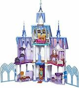 Disney Frozen Ultimate Arendelle Castle Playset 5and039 Tall Lights Moving Balcony