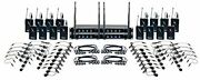 16 Channel Uhf Wireless Headset And Lapel Mic System With 14.00 X 18.00 X 24.00