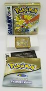 Pokemon Gold Version Nintendo Game Boy Color, 2000 Complete W/ New Battery