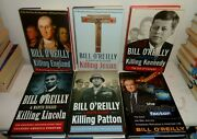 Lot 6 Bill O'reilly Hardcover Books Killing England Jesus Kennedy Lincoln Patton