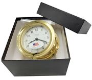 Atlantis Collection Weems And Plath 8-day Ship's Bell Wind Clock Brass 200200