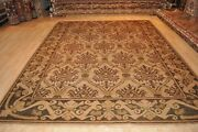 8and039x11and039 Handmade Rug Hand Knotted Grey Green Army Green Beige Gray Handmade
