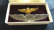 Wwii Us Sterling Cpt Training Pilots Wings And Navy Pilots Wings With Original Box