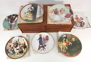 Lot Of 7 Edwin M. Knowles Norman Rockwell Decorative Plates Family Doctor And Case