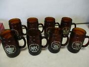 8 1976 Hires Root Beer Bicentennial Glasses With Jefferson
