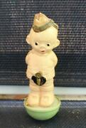 Vintage Celluloid Palitoy Roly Poly Military Soldier England 3-1/2
