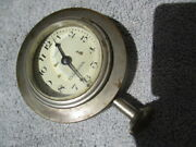 1920and039s-1930and039s Waltham 2 1/2 Le Baron Bevel Glass Face Dash Mount Clock
