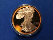 """2015-1oz.-eclipse Of The Sun-liberty-""""black Ruthenium And 24kt. Rose Gold"""