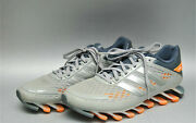 Unisex Adidas Springblade Athletic Shoes Silver Mens 6 Womens 7.5
