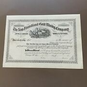 1800's The New Foundland Gold Mining Co. Capital Stock Certifacte