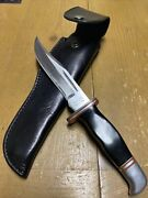 """Vintage/rare Jet Aer G96-940- 10 1/2"""" Fixed Blade Hunting Knife With Sheath-🇯🇵"""