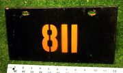Wake Island - 1950's Vintage Old School Early License Plate - Thick Masonite 811