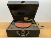 Works Vintage Antique Portable Rca Victrola Suitcase Orthophonic Record Player