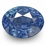 Igi Certified Burma Blue Sapphire 1.29 Cts Natural Untreated Velvety Blue Oval