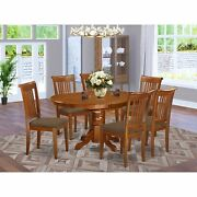 Avpo7-sbr-c 7 Pc Set Avon Kitchen Table With Leaf And 6fabric Dinette Chairs ...