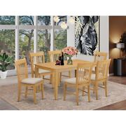 Cano7-oak-c 7 Pc Small Kitchen Table Set - Dining Table And 6 Dining Chairs