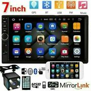 7 Double 2-din Touch Screen Car Stereo Mp5 Player Bluetooth Fm Radio W/ Camera