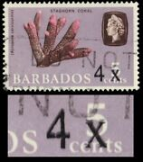 Barbados 327ii Sg398b - Staghorn Coral Double Surcharge Error Pa72291