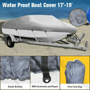 Waterproof 17and039 18and039 19and039 Boat Cover For Trailerable Fishing Dinghy Motorboat Hbt2q