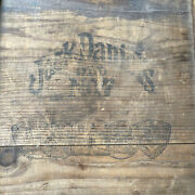 Vintage Jack Daniels Dovetail Crate Wooden Box Lynchburg Tennessee