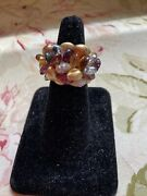 Marco Bicego 18k Diamond And Tourmaline Cluster Ring Mint