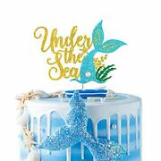 Under The Sea Cake Topper Little Mermaid Birthday Party Decoration Supplies D...