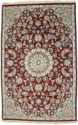 Wine Red Handmade Floral Classic 4x6 Indo-nain Oriental Rug Home Decor Carpet