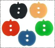 5 Small Vintage Casein Realistic Apple Buttons Assorted Color