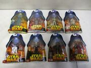 8 2005 Star Wars Revenge Of The Sith Figures With R4-p17 And Destroyer Droid