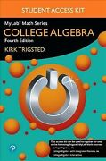Mylab Math College Algebra Paperback By Trigsted Kirk Like New Used Free ...
