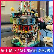 Movie City Set And Mini Figures Compatible With 70620 Newest Set N I N J A G O