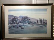 Peter Hurd A Summer Game At San Patricio Signed Print 87/500 Frame Matte Glass