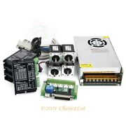 Cnc Kit 4 Axis Nema14 62oz-in Stepper Motor 24v Psu For Mill/router/engraving