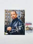 Ice-t Signed 8x10 Photo Body Count Gangster Rap Hip Hop Pioneer Law And Order Jsa