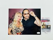 Ice-t And Model Coco Austin Signed 8x10 Photo Body Count Gangster Rap Hip Hop Jsa