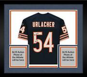 Frmd Brian Urlacher Chicago Bears Signed Navy Authentic Jersey And Hof 18 Insc
