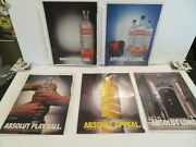Lot Of 10 Absolut Print Ads Appeal D.c. Play Ball Tradition London Cliche Halo