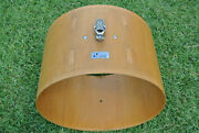 1970's Sonor-phonic 22 Bass Drum Shell In Oak Veneer For Your Drum Set M984