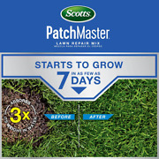Patchmaster [10lb] Sun Shade Grass Seed Mulch Lawn Fertilizer Repair Up To 290sf