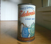 Edelweiss Vintage Cheery Beery Light Beer Flat Top Can With Coin Slot Cut In Top