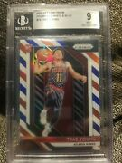 2018-19 Panini Prizm Prizms Red White And Blue 78 Trae Young Bgs 9