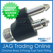 Chrome Brass Fuel Tank End Fitting Yamaha And Mercury/mariner - Boat/outboard Line