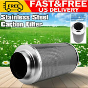 6 Hydroponics Air Carbon Charcoal Filter Odor Control Scrubber Inline Fan