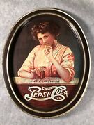 Vintage 1970's Oval Lithographed Tin Pepsi-cola Tray Love It's Flavor