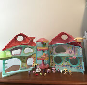 Biggest Littlest Pet Shop Playset House Foldable 2005 With Animals Hasbro