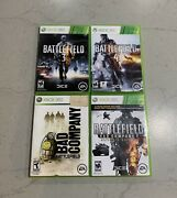 Battlefield Bundle Battlefield 1, 2, 3, 4 Xbox 360 Tested And Complete